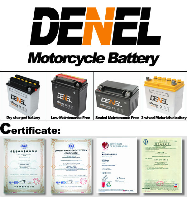SMF battery for car/bus/truck 12V 7AH