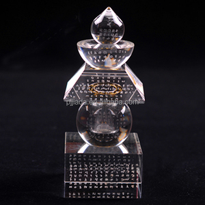 All Buddha secret heart whole body relics treasure trunk tower 6*6 colorful crystal five wheel tower stupa 14cm high