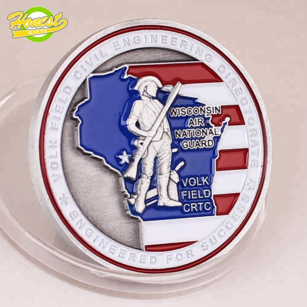 Silver challenge with edges, soft enamel coin,OEM