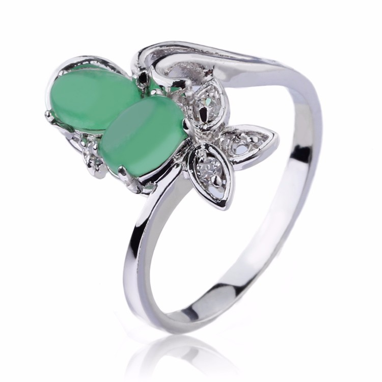The Latest Aquamarine And White Gold Ring Cz Gold Jewelry Women ...