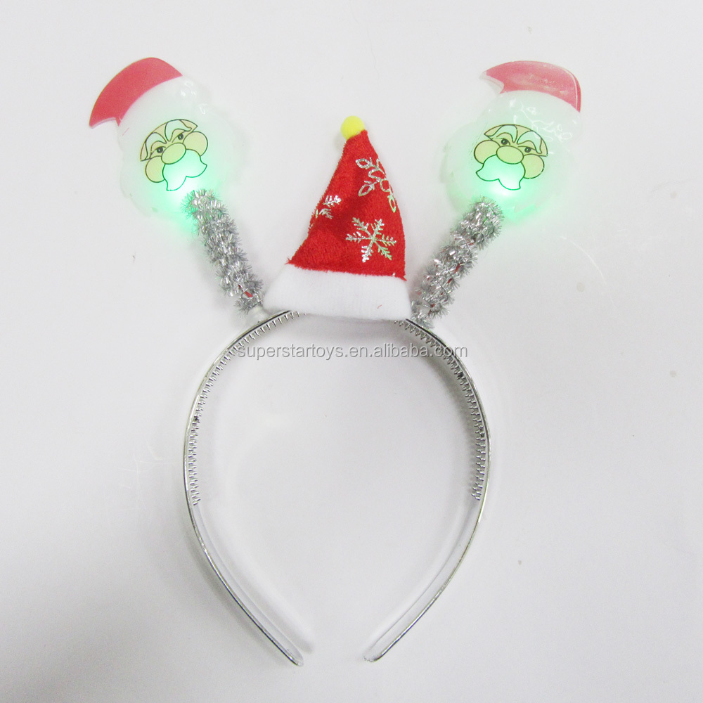 LED light Headband, Christmas theme headband with elastic decorations 3170318-23