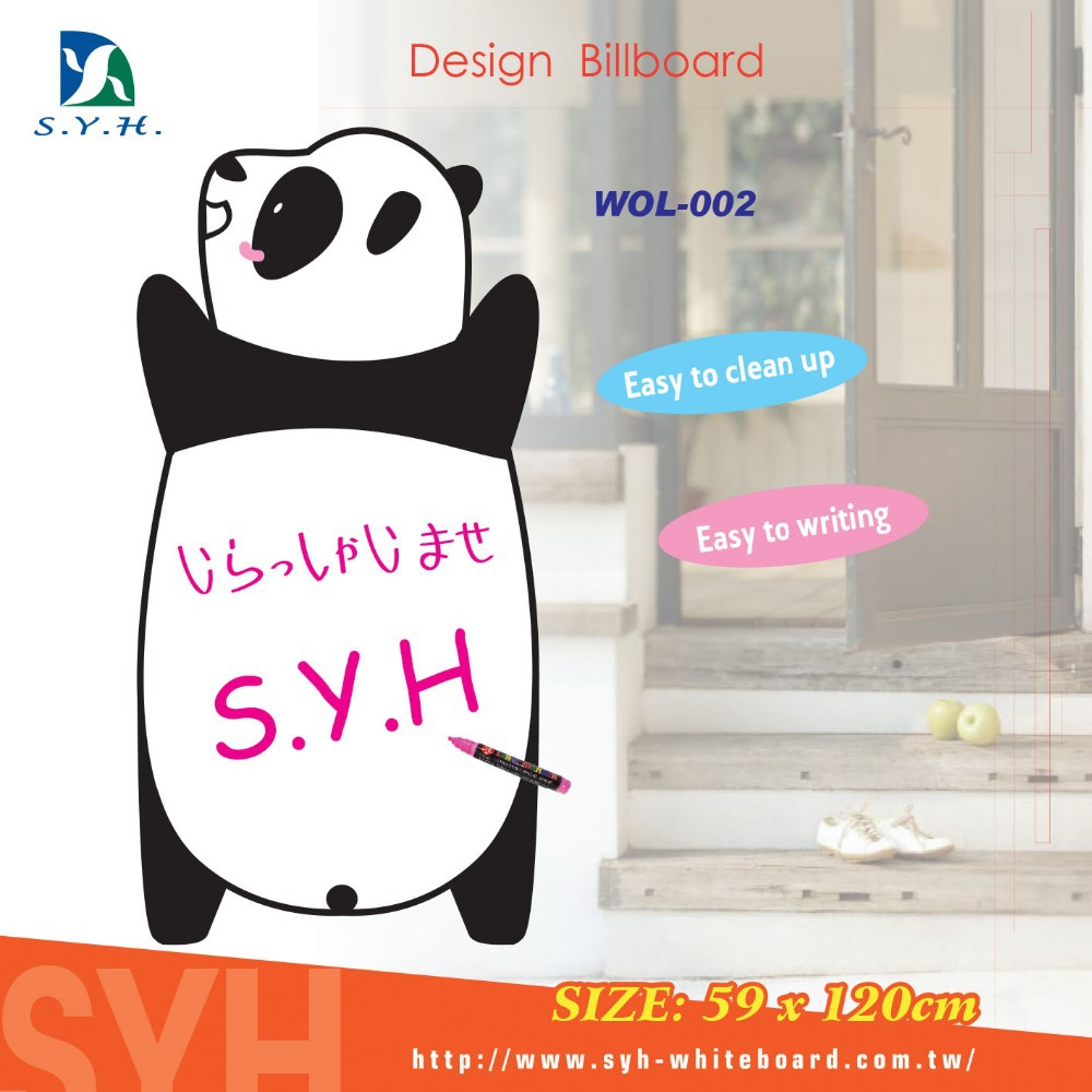 Animal wooden advertising boards street sign stand free standing display chalk mark billboard