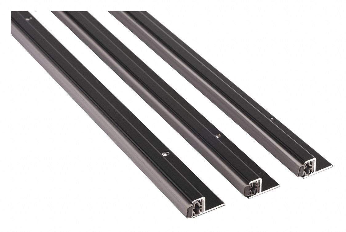 """Aluminum, Magnetic Seal, Gray, 3 ft. Overall Length, 1-1/4"""" Overall Width, 7 ft. Overall Height"""