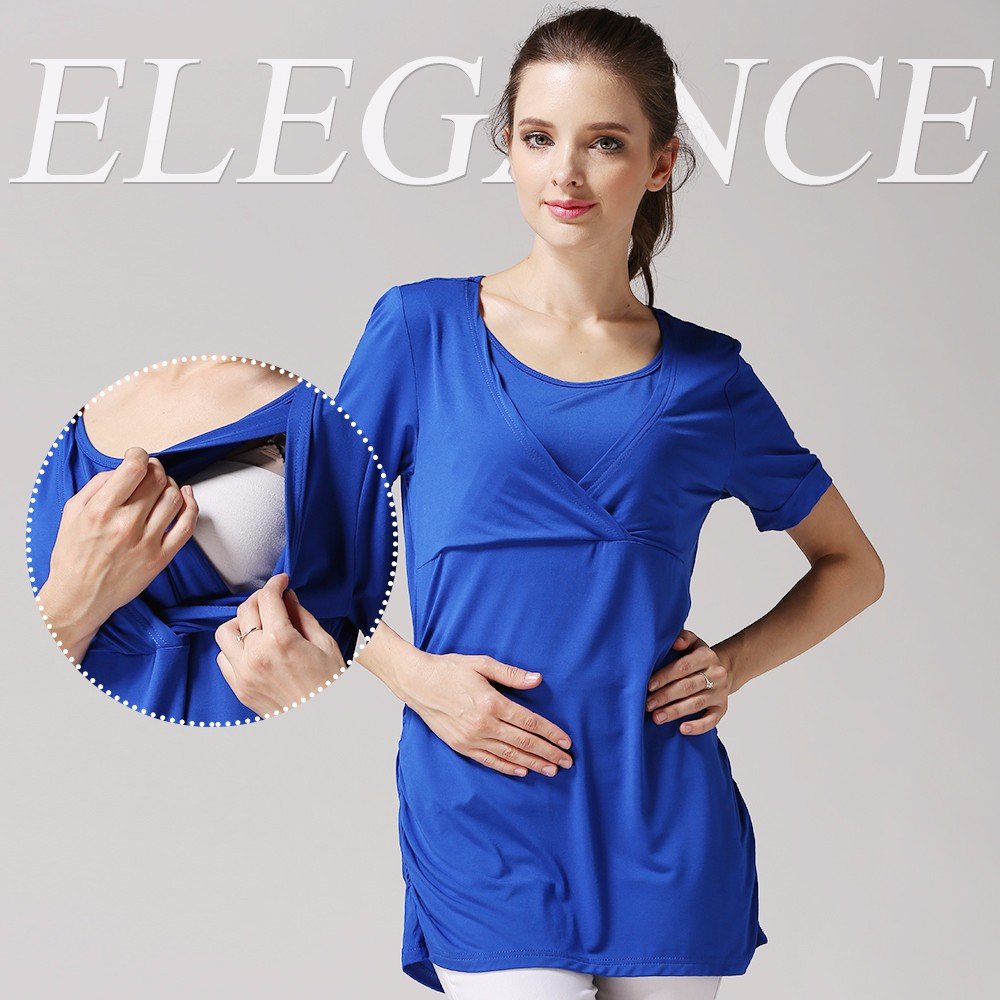 Leisure Outdooor Maternity Clothing Mode Style Breastfeeding Clothes Loose and Comfortable Pregnant Mother T-shirts