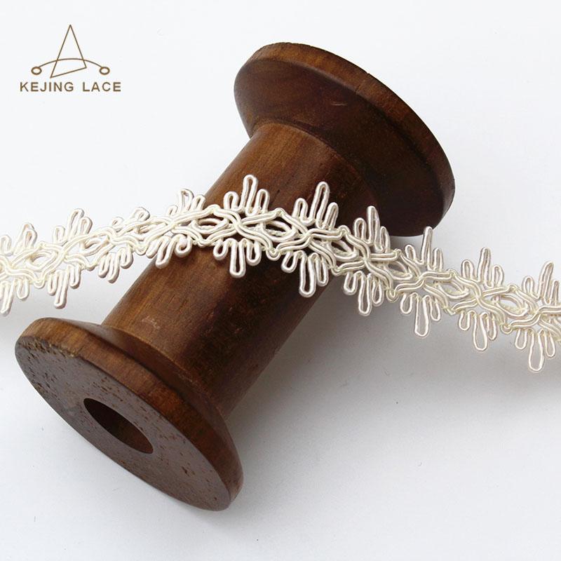 White Color Elegant Lace Trim Crochet Trims
