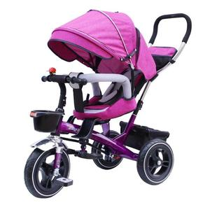 New design baby's tricycle baby bike 4in 1 baby stroller in Flax tent