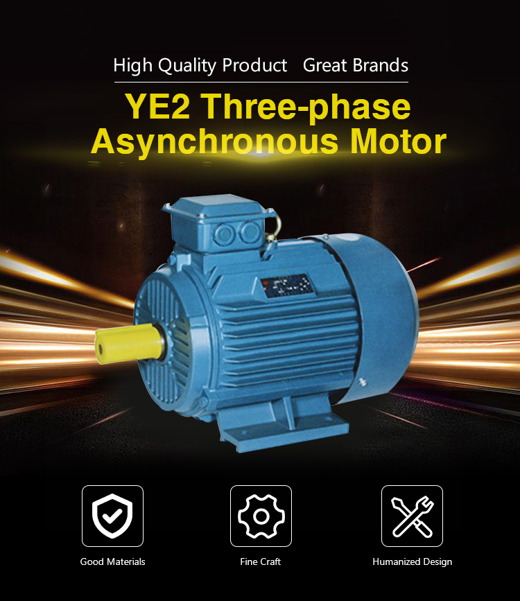 2019 New arrival 5.5kw 1440 rpm YE2 132S-4 three phase electric ac motor made in China