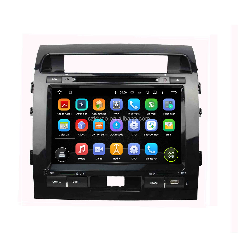 double 12.12 klyde 9 inch quad core android 7.1.2 touch screen navigation system for LAND CRUISER with 3G wifi phonebook, video
