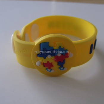 I Have Autism Puzzle Awareness Soft Pvc Bands Bracelets Wristbands
