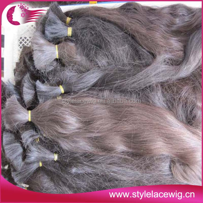 2014 Silky Soft Natural Color Unprocessed Brazilian Human Hair Bulk