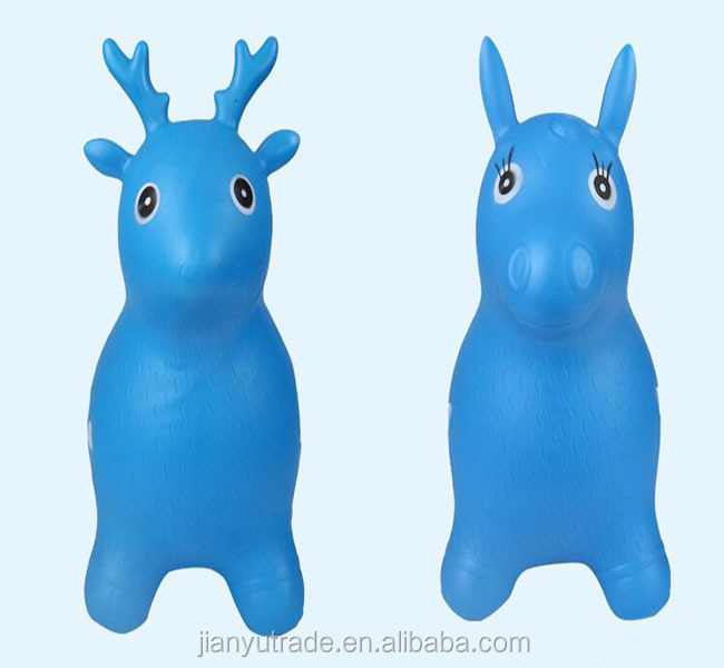 kids animal hopper inflatable cow jumping animal toys for sale