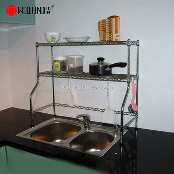 New Design Of Over The Sink Shelf For Kitchen,Nsf Approval - Buy Shelf For  Kitchen,Over The Sink Shelf,Sink Shelf Product on Alibaba.com