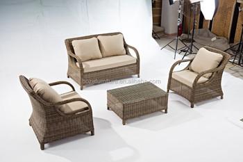 round rattan hotel garden furniture plastic wicker rattan patio sofa