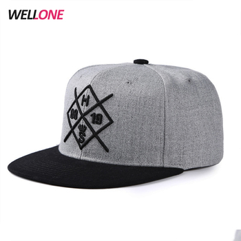 Unisex 6 panels 100% acrylic cotton plastic closure adults flat brim custom 3d embroidery customized black snapback caps