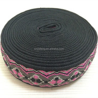 100% polyester jacquard webbing belts with company name