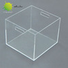 high quality custom file box cube plastic large document storage office desktop desk file organizer