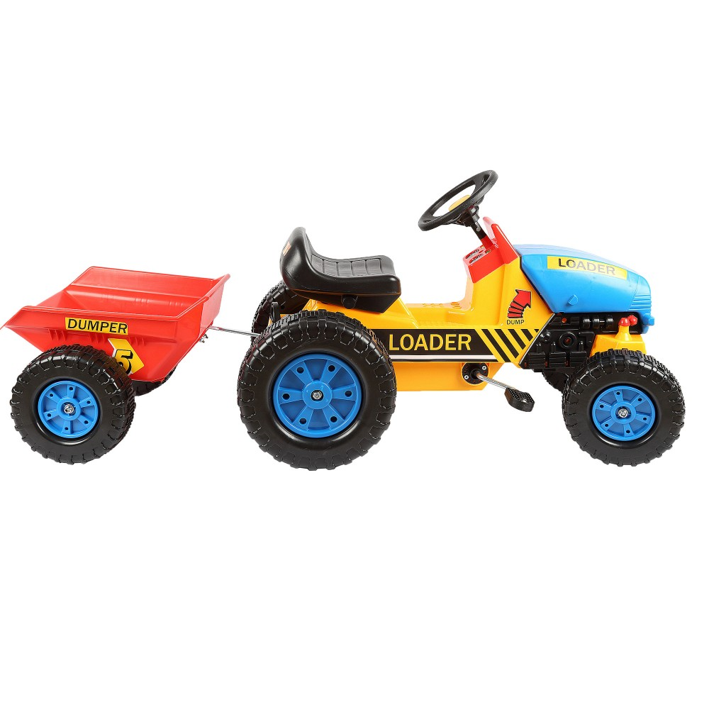engineering car for kid mini truck to ride with trailer