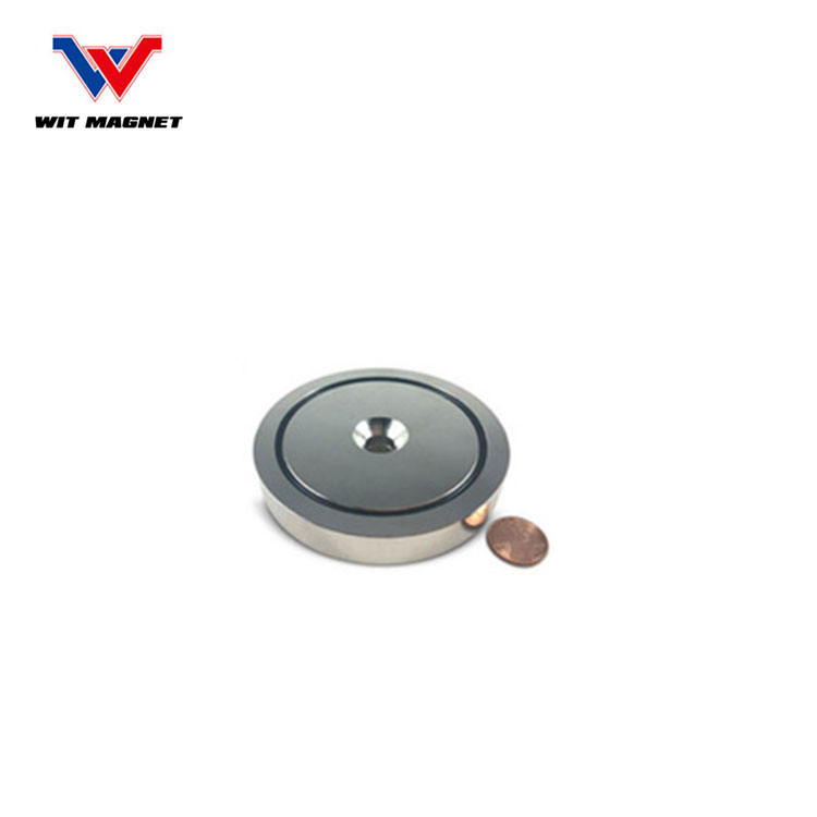 China supplier Neodymium Pot Magnets - Bulk Pack of 5 pc- 20+ LB Strength - Countersunk Hole with Mounting Screws