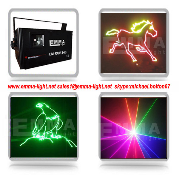 2W Analog Modulation RGB with SD , Laser Projector Disco DJ Equipment /multicolor lighting show
