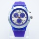 Promotional Colorful Sport Watches Silicone Three Eyes Silicone Quartz Watch