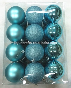 24pcs 60mm plastic bauble, Christmas Ornaments, base pack