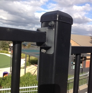 Fence post mounting metal brackets for fences