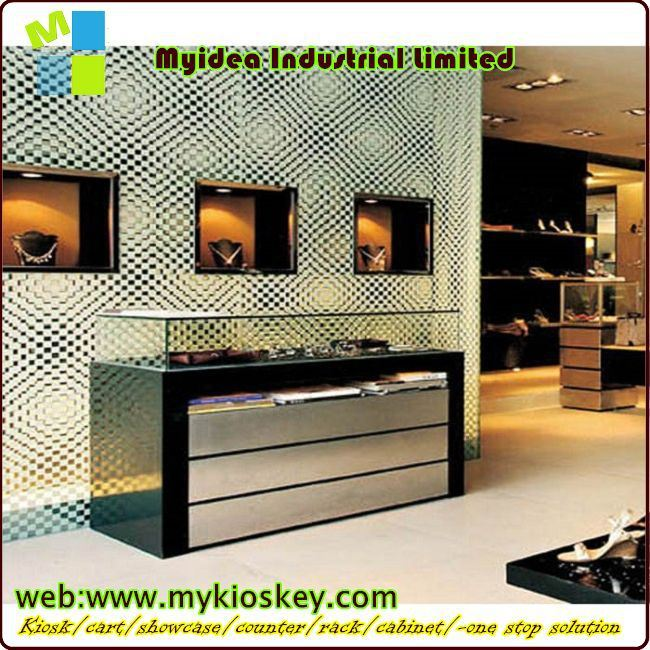 New Concept Wooden Jewelry Store Showcase Designs 3d Holo Display