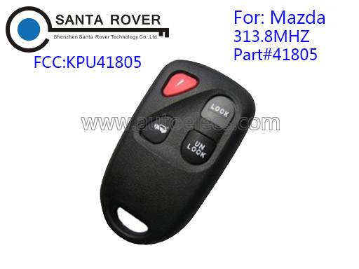 High Quality remote control for Mazda key 313.8Mhz 3+1 Button 41805