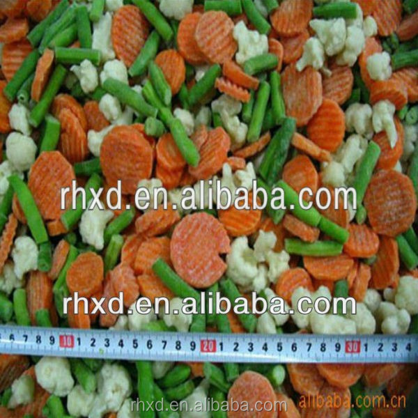 2016 IQF Frozen mixed vegetables(3t types)