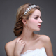 hot selling high end handmade pearl headpiece fancy hairbands wedding hair accessories bridal hair jewelry