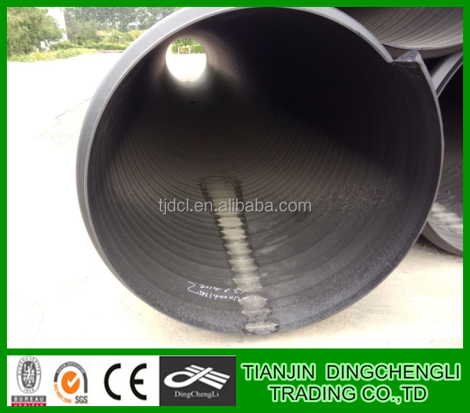 Steel Reinforced Hdpe Pipe/24 Inch Corrugated Drain Pipe/large ...