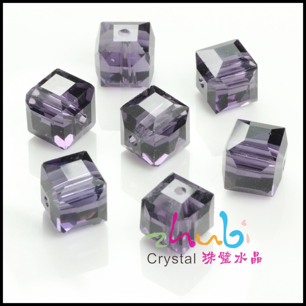 European 12mm multi-color cube beads assorted beads