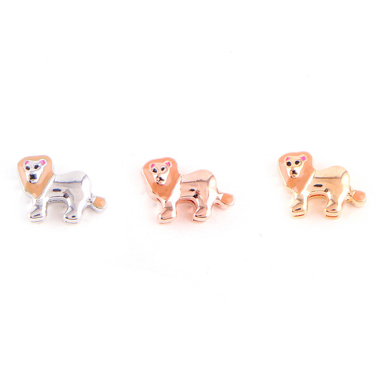 Fashion Jewelry Accessories Zinc Alloy Cute Animal Lion Charm For Jewelry Making