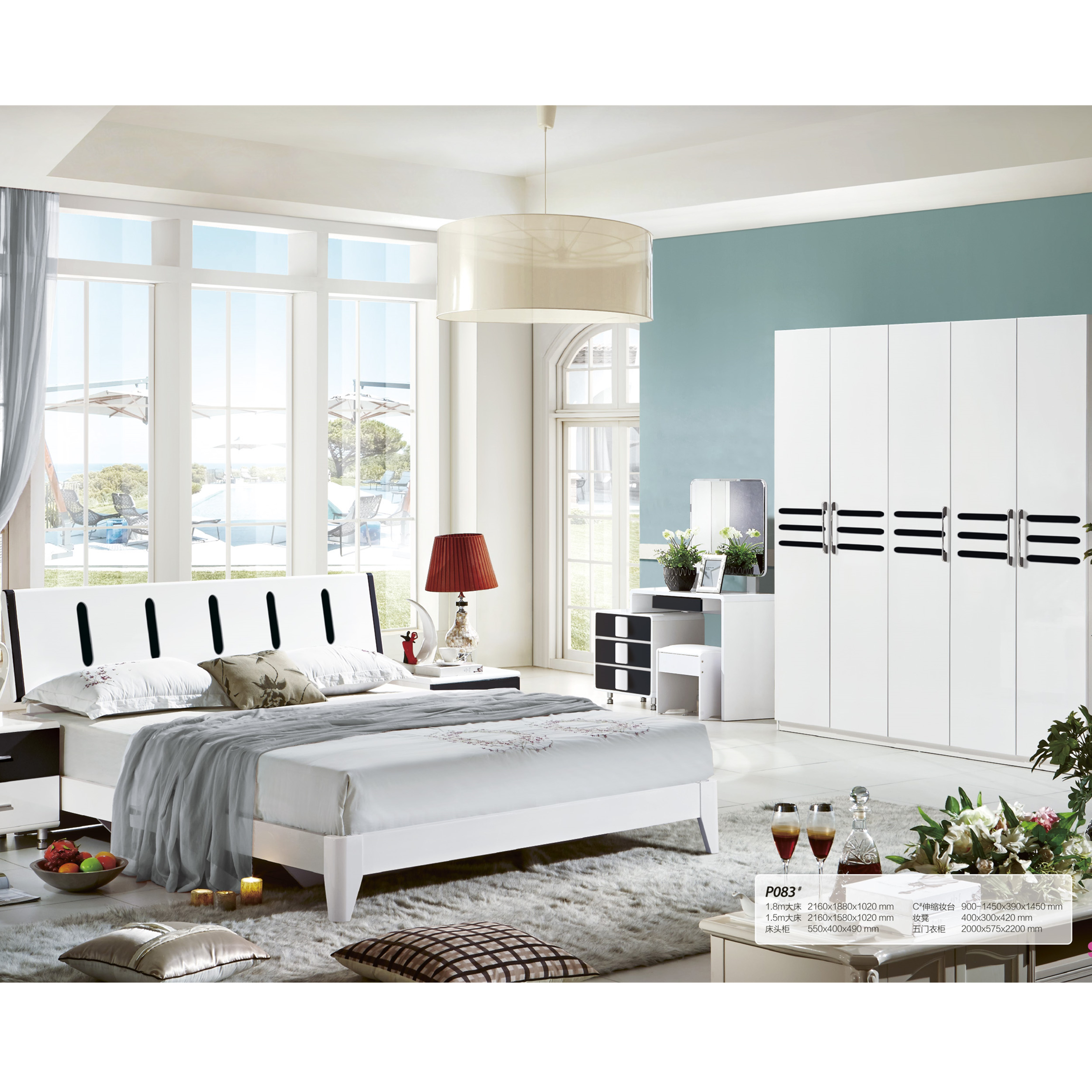 White Color High Gloss Mdf Bedroom Furniture King Size Bed - Buy King Size  Bed,Bedroom Furniture King Size Bed,White Color High Gloss Mdf Bedroom