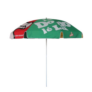 Custom logo printed outdoor advertising portable garden beach sun umbrella