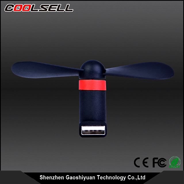 Hot Sale OTG mini fan/Portable Small Type Super Mute Usb Fan For Android Phone Mobile Laptop
