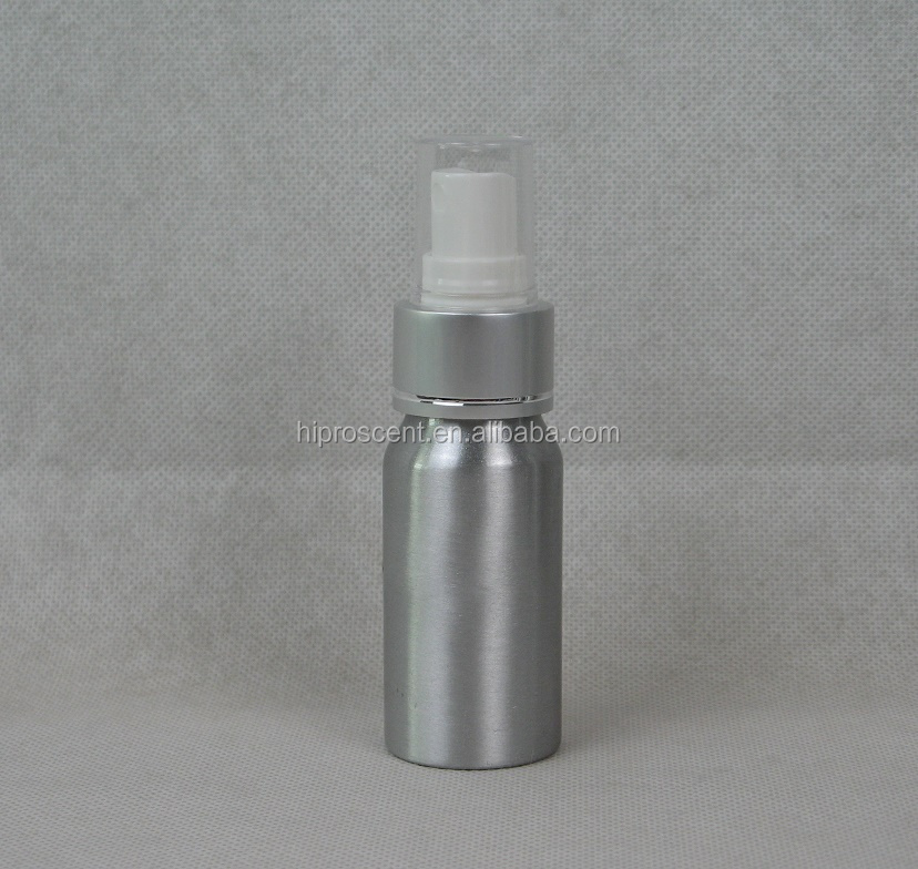 RunFeng 30ml metal type aluminium spray bottle with silver (with one shinny silver line) 24/410 plastic atomizer