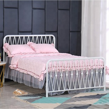 Modern Bed Frames Queen Size Bed For Sale White Wrought Iron Bed