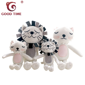 Ins Hot Sale Family Cat Stuffed Toy for Nordic Style Kids Room Decoration