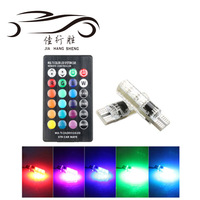 Factory supply T10 5050 6SMD RGB with Remote Control Multi Colors Changing LED Lamp auto car led interior music dancing light
