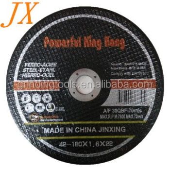 "abrasive disc type cutting disk 7"" 180*1.6*22mm"