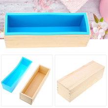 Loaf Toast Bread Pastry Cake Mold Rectangle DIY Handmade Soap Silicone Mold Silicone Liner Wooden Soap Mold