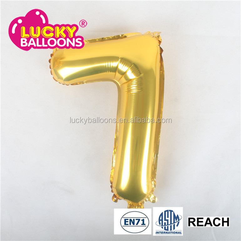 Number 0-9 Foil Balloon wholesales New Happy Birthday letter Balloon Party