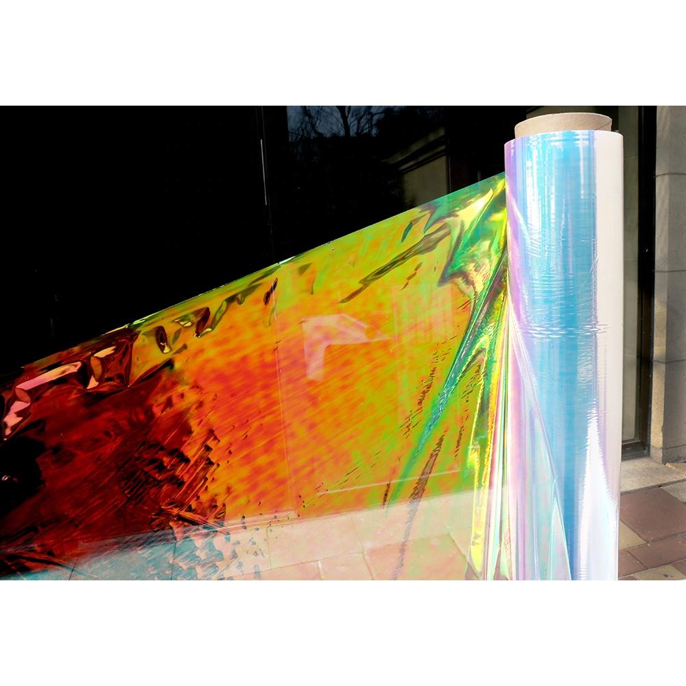 2019 hacer Arco Iris Auto adhesivo Pet Arco Iris película iridiscente