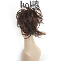 Hot sell products easy to attach short hair kinky ponytail cap