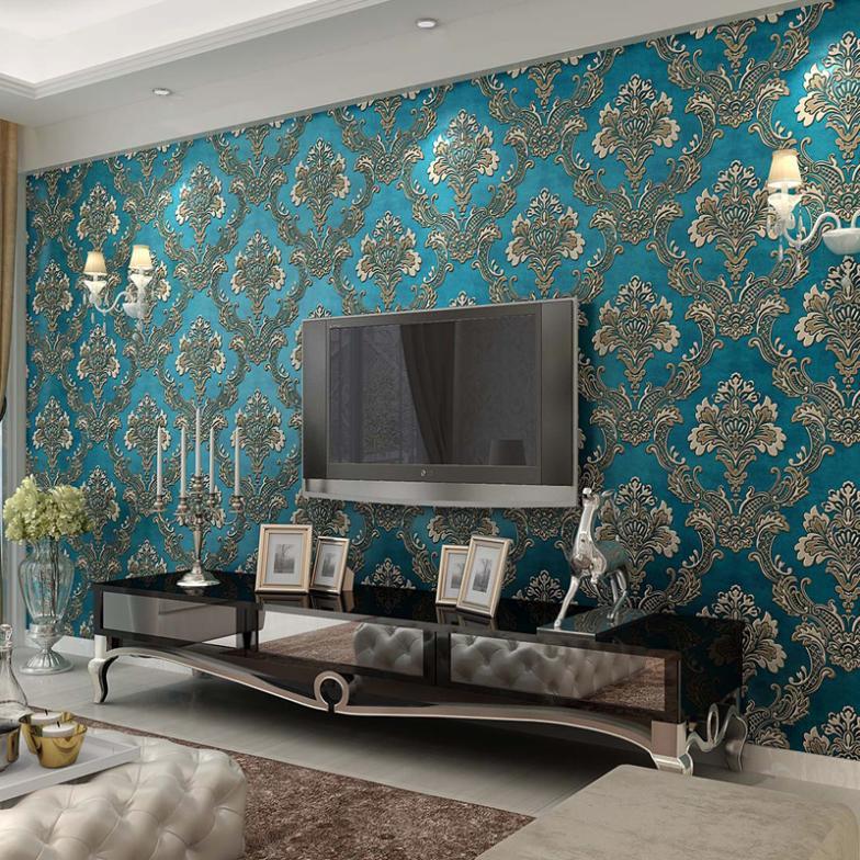 Blue Living Room Wallpaper Zion Star