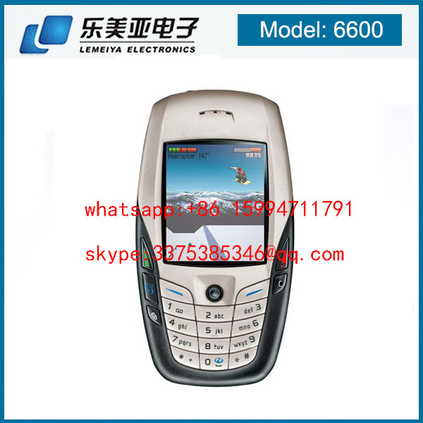 New Condition 6600 Mobile Phone with Bluetooth Camera Unlocked GSM Triband White Original