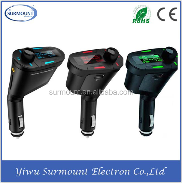 TF card 3.5mm Audio player Car Radio FM Transmitter for mp3 mp4