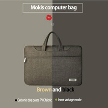 Anti-Shock Computer Bag Notebook Sleeve Bag Black and Brown Double Color for 15.6″ Business Laptop Shoulder Handle Bag 42cm*33cm