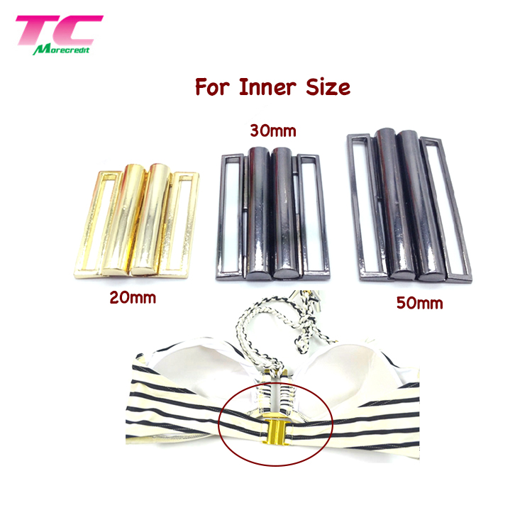 Swimsuit Accessories For Bikini Lingerie Metal Clasp Connector Metal Front Bra Buckle